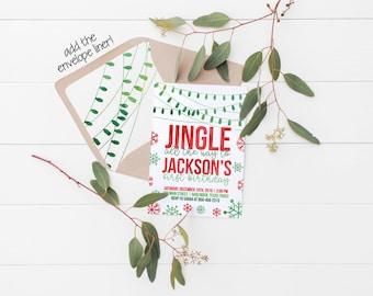 Printable Jingle All the Way Birthday Invitation