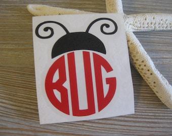 Ladybug Monogram Car Decal - Monogram Ladybug Car Decal - Monogram Car Decal -Monogram Decal - Car Decal - Ladybug Decal - Ladybug - Decal