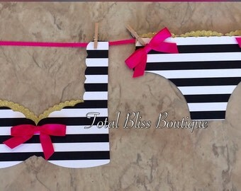 black u0026 white striped lingerie banner kate spade banner kate spade party