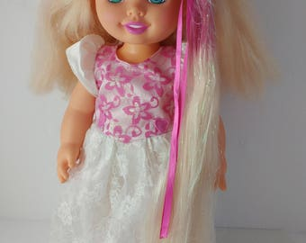 Kenner Bride Surprise Toy Doll 1990s Growing Hair Blonde / Ombre Tinsel Hair - 15 Inches