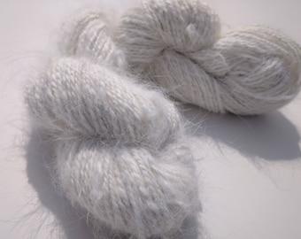 Handspun French angora yarn