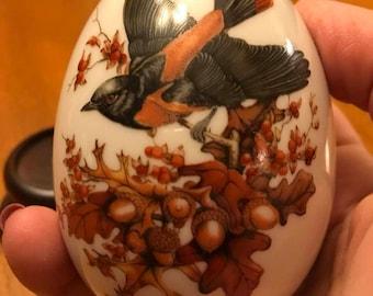 Pretty Avon Autumn Bird Egg