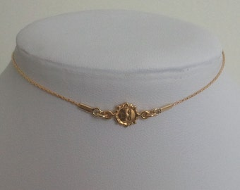 Delicate gold necklace, tiny gold sun neckline necklace, dainty mini gold sun necklace, bridesmaid necklace, gold filled