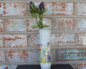 Vintage Andre Richard Bud Vase with Floral Design