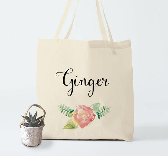 Ginger, tote bag, hand bag, canvas bag, cotton bag, groceries bag, laptop bag, wedding gift, gift coworker, birthday sister, novelty gift.