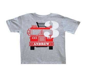 Firetruck Birthday, Firetruck birthday shirt, Firetruck party, Firetruck invite, Toddler firetruck Birthday Shirt, Firetruck theme