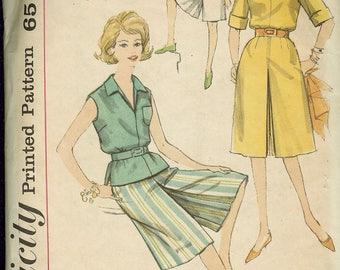 Simplicity 3866 Junior and Misses' Culottes in Two Lengths and Blouse