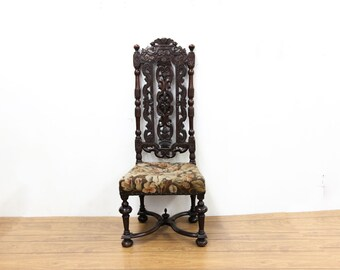 James II Carved Side Chair