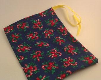 """Cloth Gift Bag Drawstring 4""""x8"""" Reusable Christmas"""
