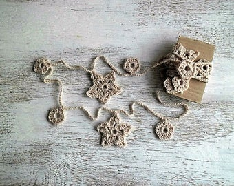 Decorative garland - crochet home decor - made to order - Assorted colors