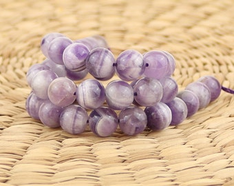 10 mm Amethyst beads •Natural amethyst beads•Purple gemstone beads•Round amethyst beads• Purple stone beads•Natural stone•Birthstone beads