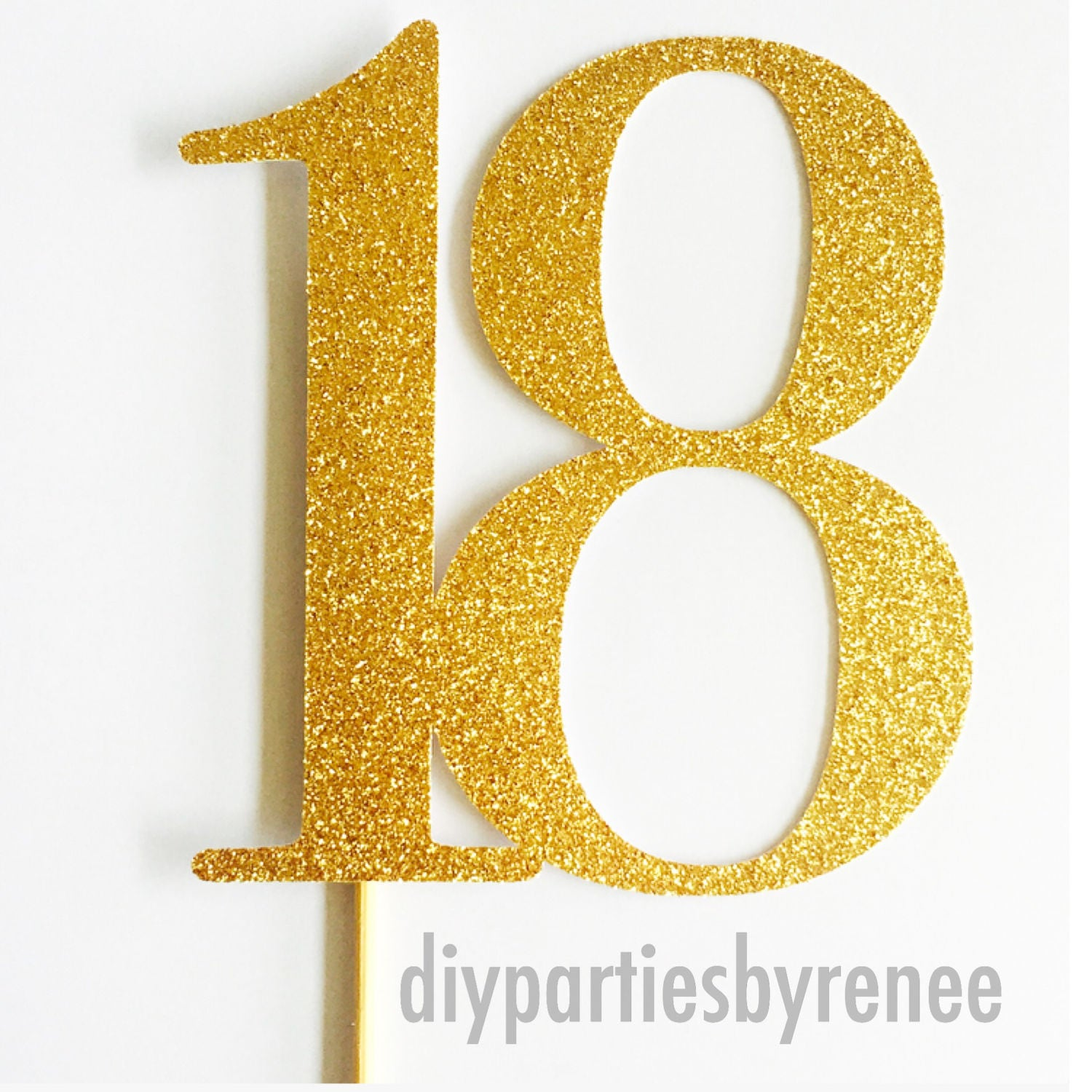 number 18 cake topper eighteen cake topper number cake