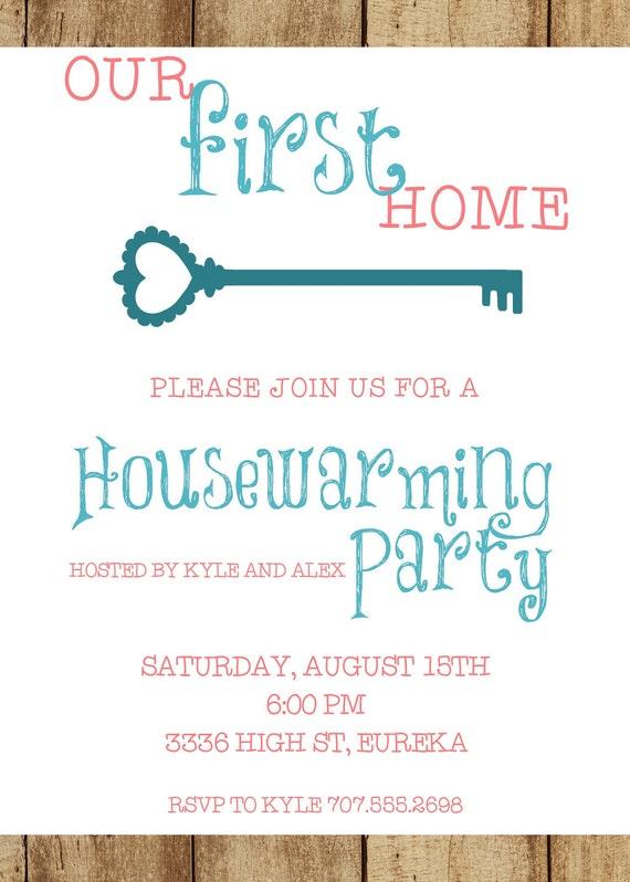 our first home housewarming invitation 5x7 custom digital card