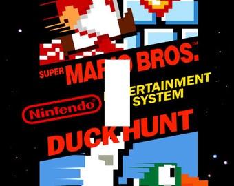 Super Mario Bros Duck Hunt NES Cover Single Light Switch Plate Cover Nintendo
