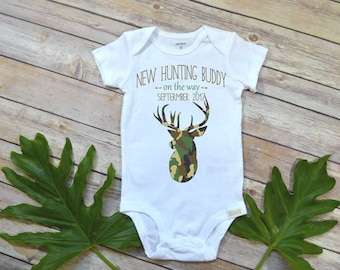 Hunting Baby, New Hunting Buddy, Pregnancy Announcement, Baby Reveal, Baby Announcement, Pregnancy Reveal, Daddy Hunting, Camo, Country Baby