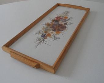 Vintage tray,decorative tray,flower pattern tray,wooden tray,handmade tray,old german tray,sixties tray,wooden tray,serving tray