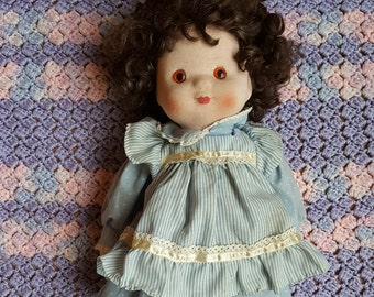 Not a Cabbage Patch Kid, not a My Child doll but close to both: Muffin is one of Gorham's Sweet Inspirations dolls made in the 1980s