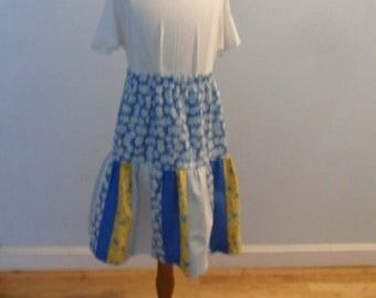 One of a kind patchwork  girl skirt size 8
