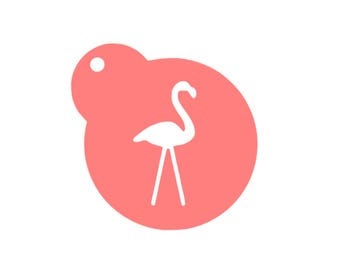 Flamingo Lawn Ornament Stencil, Flamingo Cookie Stencil, Flamingo Cookies, Flamingo Cake Stencil, Flamingo Sugar Cookie, Luau Cookies