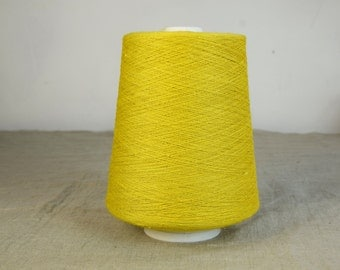 100% linen threads. Sulfur yellow color. 1-ply, 2-ply, 3-ply and 4-ply. One-color or melange threads available.