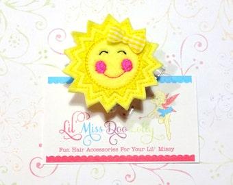 Sunshine ID Badge Reel-Sun ID Badge-Raincloud Badge-Sun Badge Holder -Retractable ID Badge Holder- Badge Reel Clip (Set of 1)