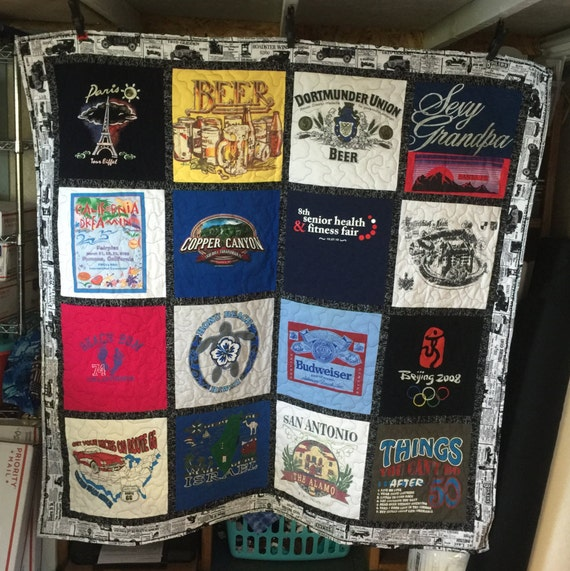 how to make a quilt out of t shirts
