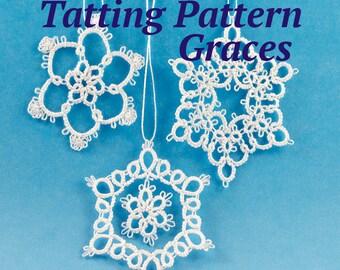 3 Little Snowflakes Tatting Pattern Graces
