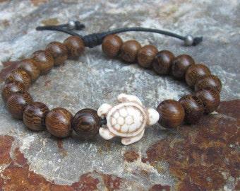 bohemian bracelet boho bracelet Mens beaded bracelet Robles wood bead sliding not adjustable bracelet women's stacking surfer bracelet