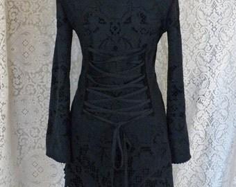 Sale!!DARK LACE JACKET cardigan fleece romantic bohemian gypsy Steampunk