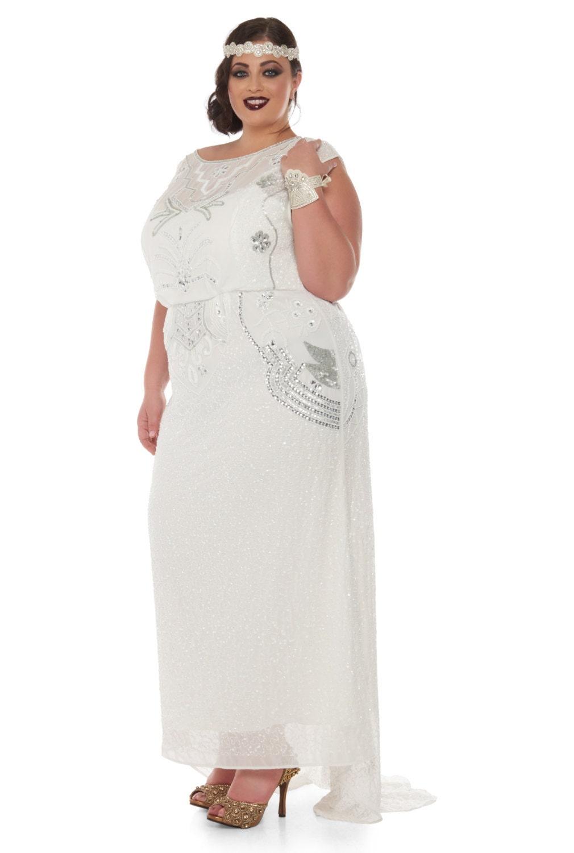 Us20 Uk24 Aus24 Eu52 Isla Off White Plus Size Wedding Gown