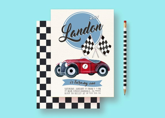 Race Car Invitation Cars Birthday Cars Invitation Cars