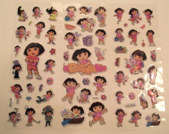 DORA the EXPLORER STICKERS,Scrapbook Stickers,Craft Supplies,Sticker for Girls,Stickers for Kids,Easter Gift for Girl,Stocking Stuffer