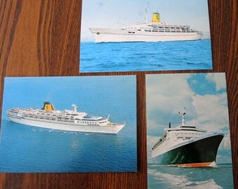 Vintage Cruise Ships Post Cards