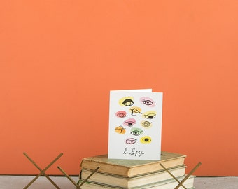 I Spy Eyes A2 Greeting Card