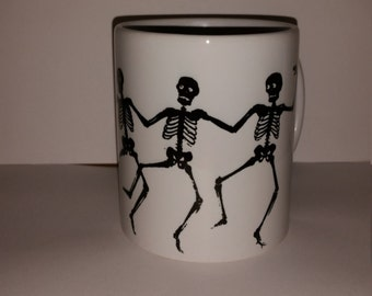 Dancing Skeletons Coffee Mug, great gift for a friend!