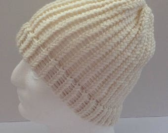 woman's mens knitted beanie hat, knitted hat, knit beanie, winter beanie hat, winter hat, woman's women's mens hat, beanie hat, chunky hat,