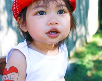 valentines day gift for dad temporary tattoo fake tattoo funny red heart tattoo kids tattoos for toddler cute photoshoot prop for children