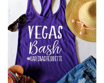 Bachelorette Party, Vegas Bash Fitted Racerback Tank Top, XS-2XL, Bachelorette Party Shirts, Wine Tasting Trip, Gift For Her, Wedding Party