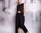 Black Skirt, Harem Pants, Asymmetric skirt, Maxi Skirt, Long Skirt, Floor Length Skirt, Extravagant Skirt, Loose Skirt, UrbanMood, UM-173-VL