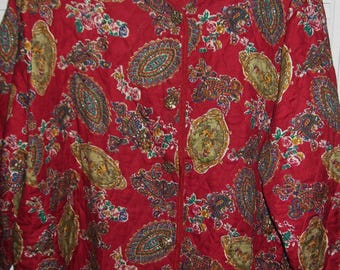 Jacket 24.Vintage La Chine PLUS by Galinda Wang Quilted Rayon Jacket Size 24 see details