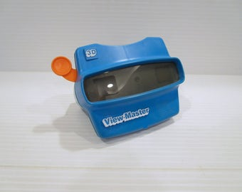 VIEW MASTER 3D, blue view master, retro view master, vintage toy, 1980s toy, gift for child, blue gift for child, vintage view master toy