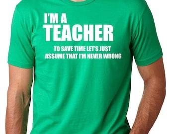 Teacher T-Shirt Gift For Teacher Funny Occupation Profession Tee Shirt