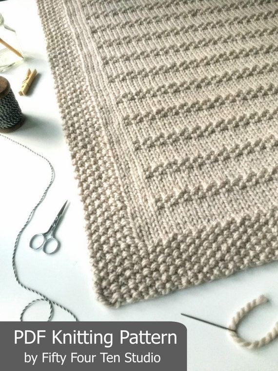 KNITTING PATTERN / Stones in the Road / Throw / Afghan / Knit / Gift ...