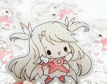 Prisma Illya Jumbo Glitter Magical Girl Sticker