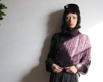 DIOR Plum Knit Cardigan
