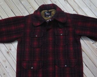 1950s Woolrich Mackinaw Jacket Field Coat Wool Jacket
