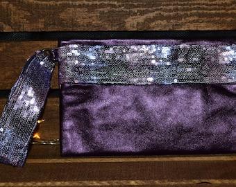 Sequined 80's Retro Makeup or Evening Bag