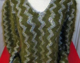 Anny Blatt Hand-Knitted French Angora Sweater ~ Ooh La La