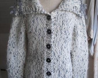 Hand knitted Rowan yarns cardigan