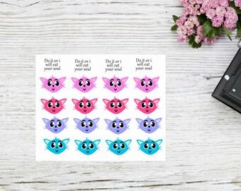 "Planner stickers cute cartoon cat ""Sevs"""